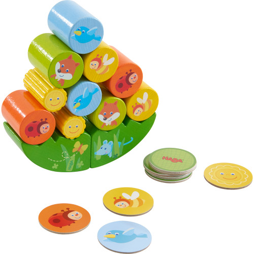 HABA Fox Wooden Stacking Memory Matching and Dexterity Game (Made in Germany)