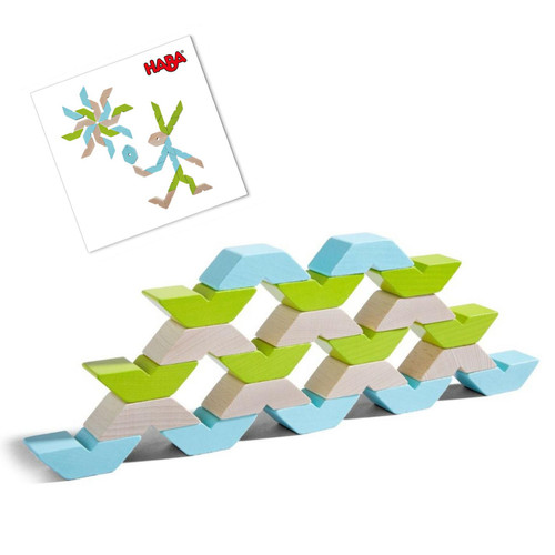 HABA Varius Building Blocks with Pattern Cards (Made in Germany)