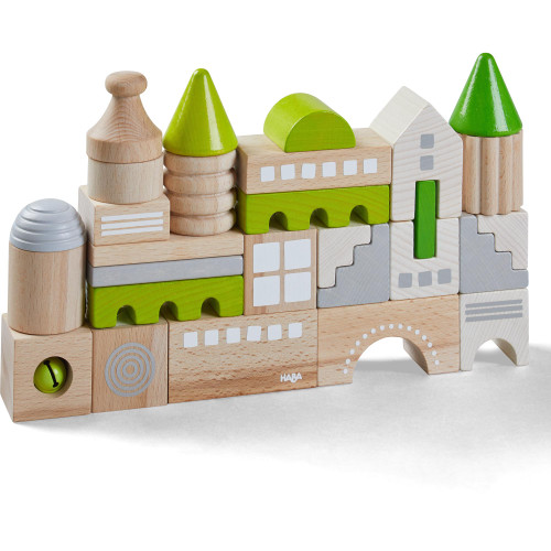 HABA Coburg Wooden Building Blocks 28 Piece Set (Made in Germany)