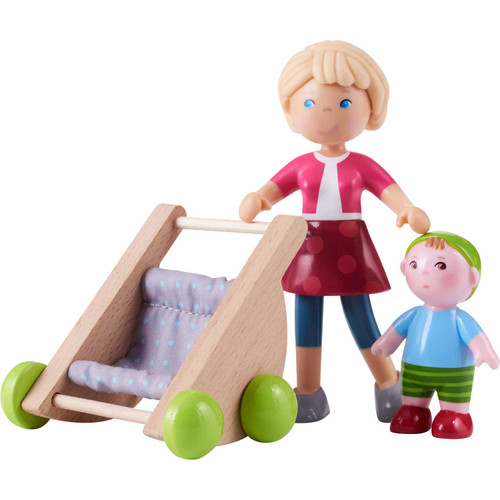 Little Friends Mommy Melanie and Baby Figures with Stroller