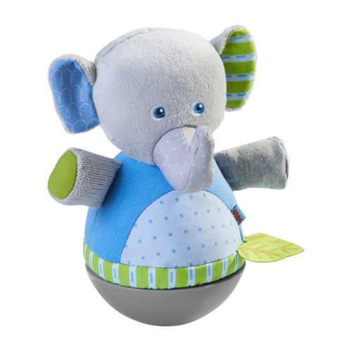 HABA Roly Poly Elephant Soft Wobbling & Chiming Baby Toy