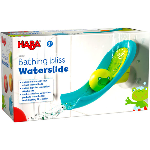 HABA Bathtub Ball Track - Bathing Bliss Waterslide with 4 Animal Balls