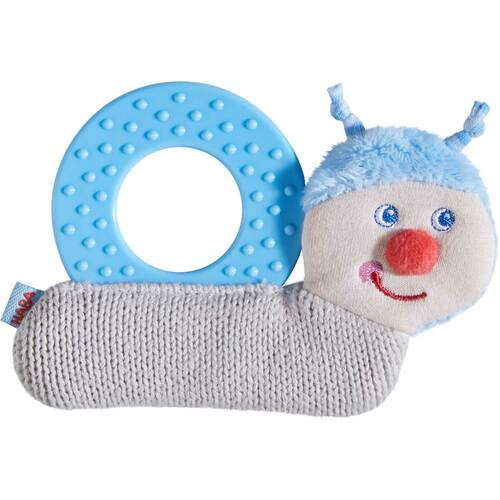 HABA Chomp Champ Snail Plush and Silicone Teether