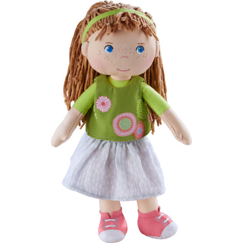 """HABA Hedda 12"""" Soft Doll - Machine Washable with Embroidered Face"""
