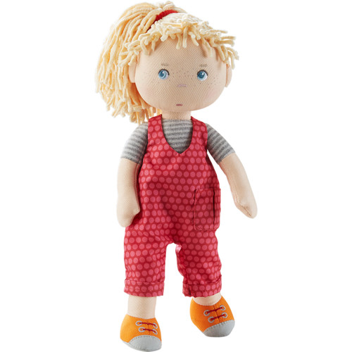 """HABA Cassie 12"""" Soft Doll with Blonde Hair, Blue Eyes and Embroidered Face for Ages 18 Months and Up"""
