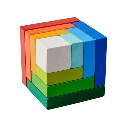 HABA Rainbow Cube - 3D Arranging Game (Made in Germany)