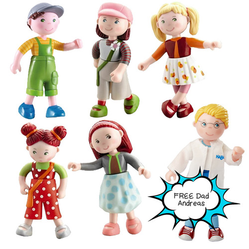 Little Friends Doll Bundle 2 with FREE Dad Andreas