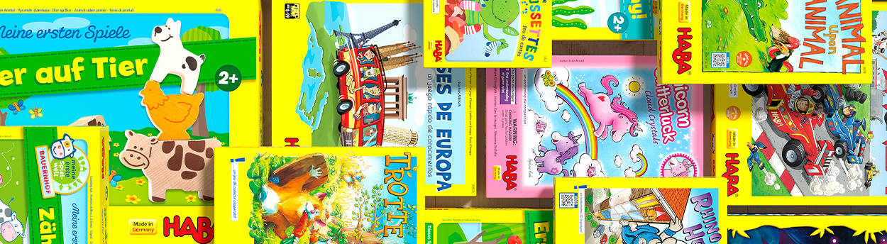 HABA game boxes
