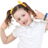 Yellow-School-Hair-Bows-Model-Image