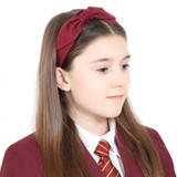 Burgundy-School-Headband-Model-Image