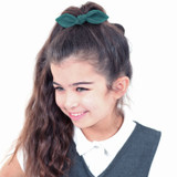 Bottle-Green-School-Hair-Bows-Model-Image