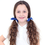 Royal-Blue-Hair-Bows-Model-Image