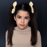 Gold-Stars-Hair-Bows-Model-Image