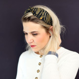 Khaki-Zebra-Headband-Model-Image