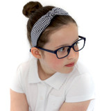 Navy-Gingham-School-Headband-Model-Image
