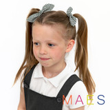 Green-Gingham-School-Hair-Bows-Model-Image