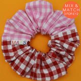 Pink-Red-Gingham-Scrunchie-Image