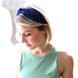 Navy-Embroidered-Daisy-Headband-Model-Image