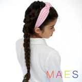 Pink-Gingham-School-Headband-Modeled-Image