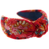 Red-Floral-Knot-Headband-Image