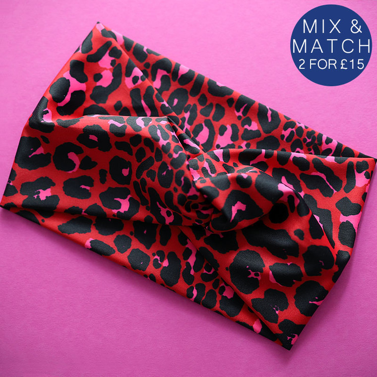 Red-Leopard-Active-Twist-knot-Image
