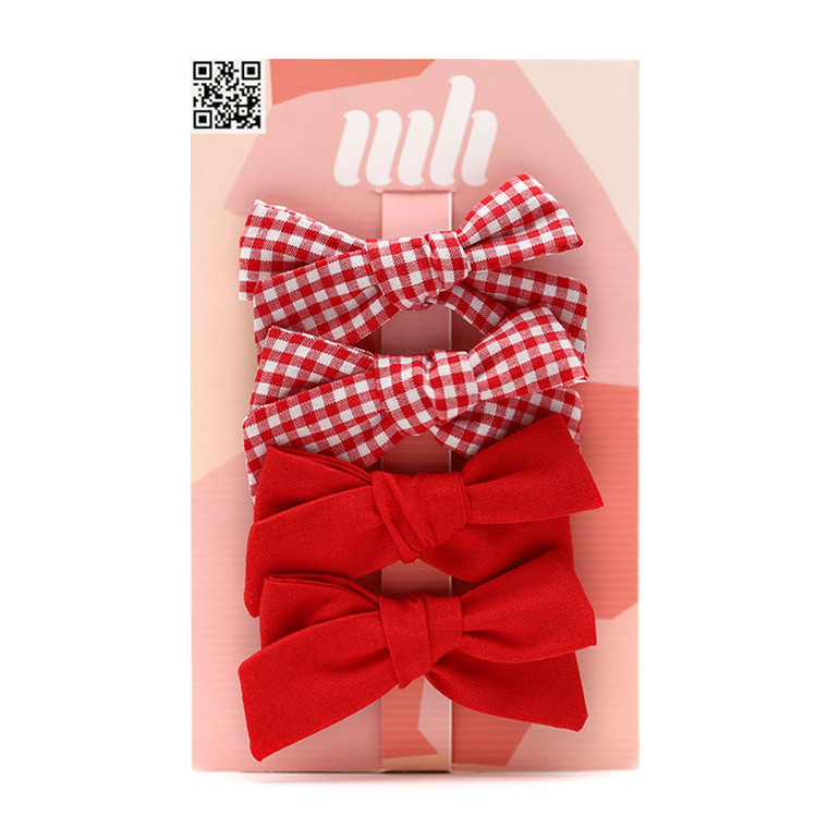Red-School-Hair-Bow-Clips-Image