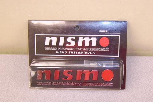 X Metal Nismo Emblem Genuine Nismo Japan Accy 99996-RN011