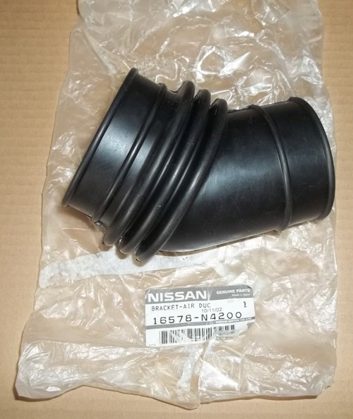x air flow meter duct accordion boot hose 75-77 280z s30 l28 between afm & throttle  body 16578-n4200