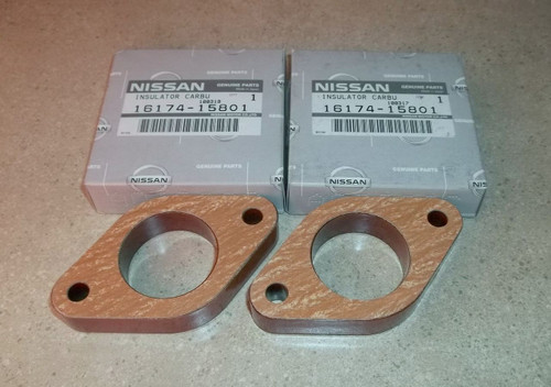 Carburetor Base Plate Insulator Spacer Plate With Gaskets
