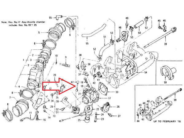 X Throttle Linkage Connecting Rod At Throttle Body For