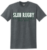 SLOB Rugby Tee, Dark Heather Gray
