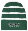 Loyola Rugby Fleece-Lined Stripe Beanie