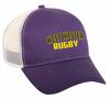 West Chester Mesh-Back Adjustable Hat, Purple/White