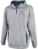 EPRRS 1/4-Zip Performance Fleece Hoodie, Silver/Navy