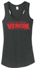 Raleigh Venom Ladies-Cut Racerback Tank, Heathered Black
