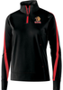 Raleigh Venom 1/4-Zip PolyStretch Pullover, Black/Red