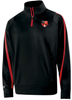 Grove City Men 1/4-Zip PolyStretch Pullover, Black/Red