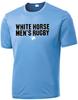 White Horse RFC Performance Tee, Carolina Blue