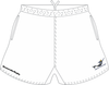 Norfolk Storm SRS Pocketed Performance Rugby Shorts, White