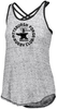 Forge Criss Cross-Strap Ladies Tank, Gray/Black