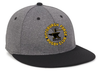 Forge Flat Bill Hat, Heathered Black
