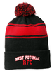 West Potomac Striped Pom Beanie