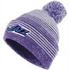 KC Jazz Pom Beanie, Purple/White