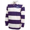 KC Jazz Rugby-Stripe Polo, Purple