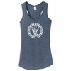 Houston Athletic Ladies-Cut Racerback Tank, Navy
