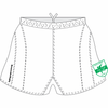 South Jersey Performance Rugby Shorts, White