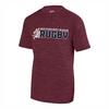 Bucks Rugby Tonal Performance Tee, Maroon