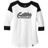 Gators Ladies-Cut 3/4-Sleeve Tee, Black/White