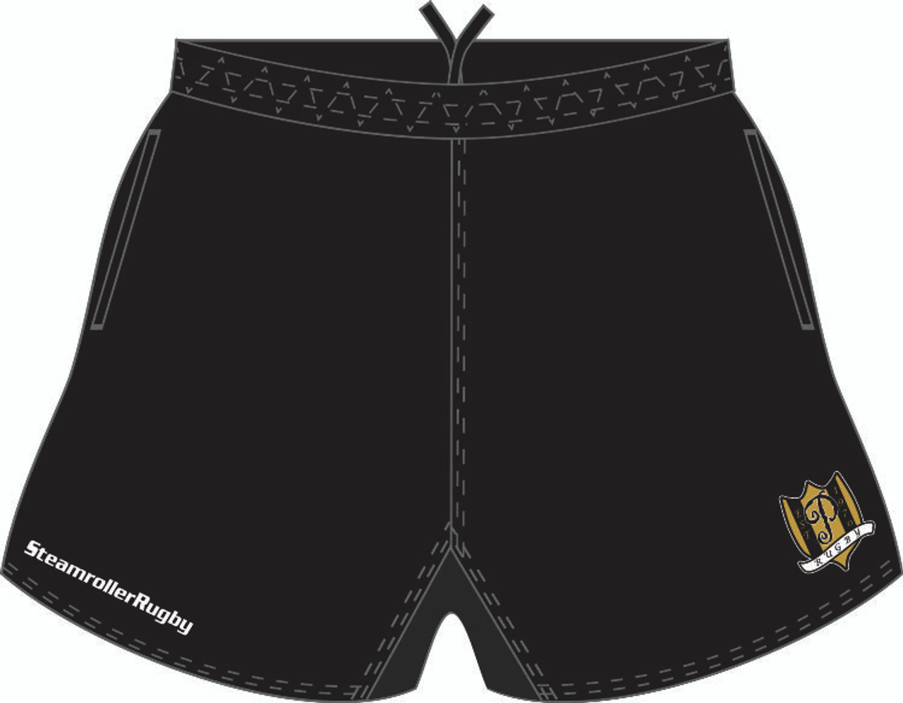 Purdue Pocketed Performance Rugby Shorts