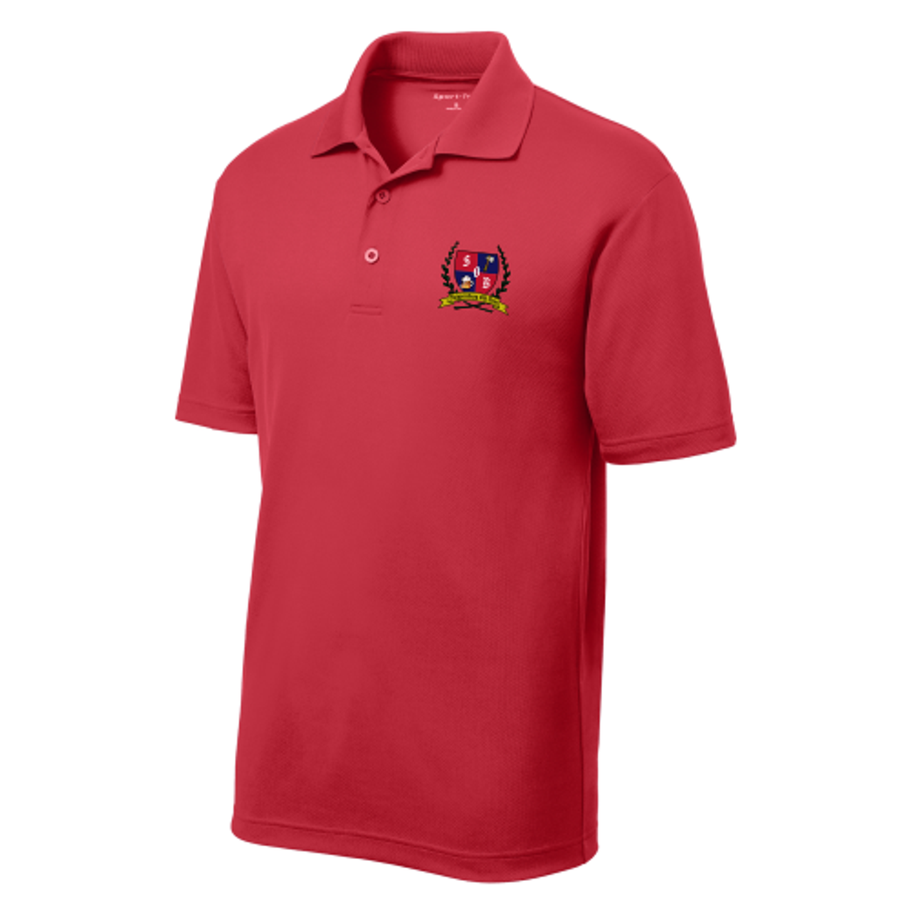 Ship Old Boys Performance Polo, Red